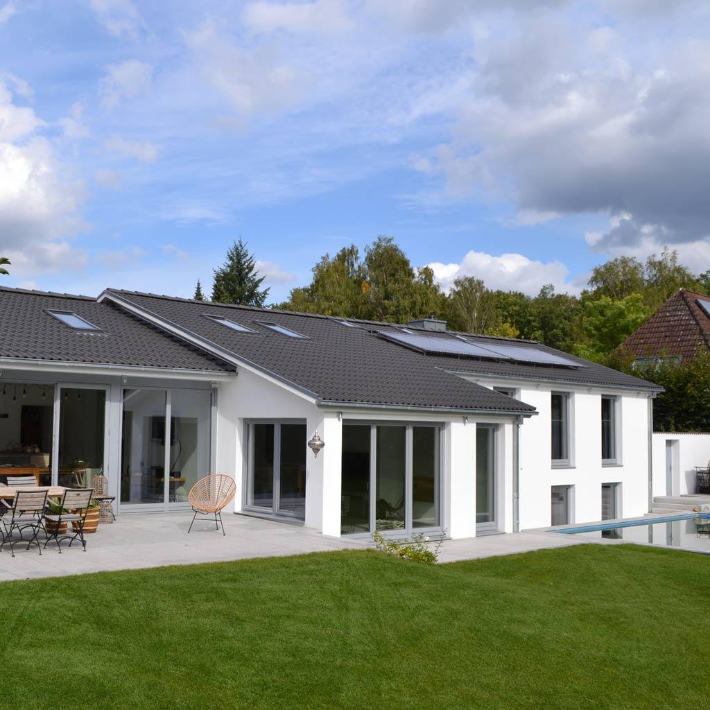 Erweiterung Einfamilienhaus Bauen im Bestand